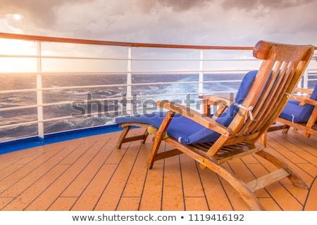 Statek wycieczkowy pokład widoku lata niebieski łodzi Zdjęcia stock © lightpoet