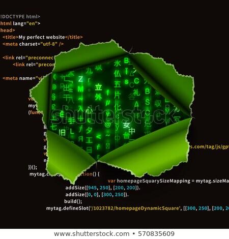 Strappato buco testo matrice codice segni Foto d'archivio © evgeny89