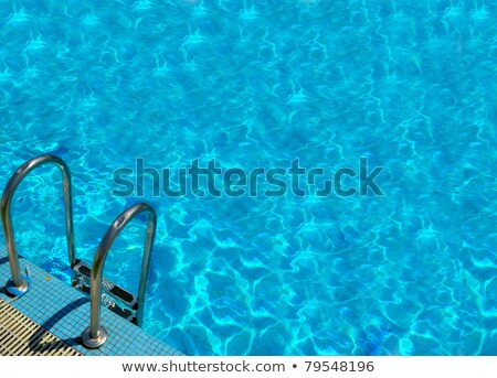 Superfície azul água piscina superfície da água abstrato Foto stock © Freedomz