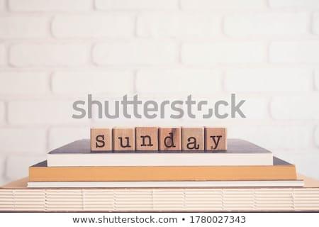 Woord hallo vintage brieven houten Stockfoto © vinnstock