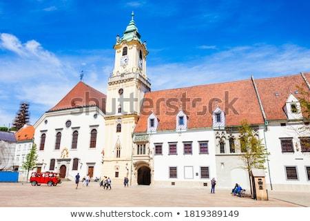 Cidade velha ouvir Bratislava Eslováquia complexo edifícios Foto stock © borisb17