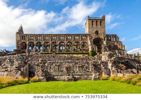 древних аббатство Шотландии Церкви каменные Сток-фото © Hofmeester