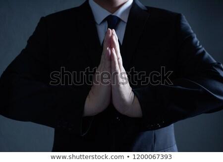 христианской · бизнесмен · Библии · изолированный · белый - Сток-фото © lisafx