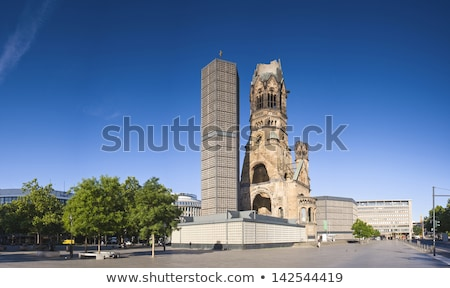 Kaiser Wilhelm Memorial Church in Berlin Stock photo © aladin66