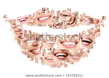 human healthy teeth smile collage stock photo © zurijeta