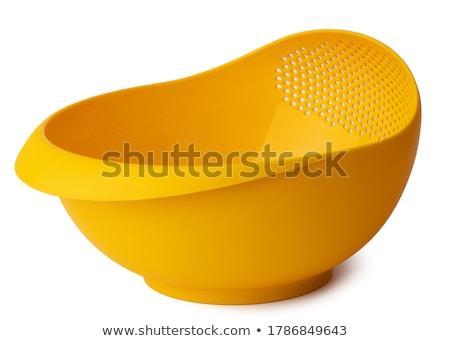 Plastica utensile da cucina isolato bianco alimentare cucina Foto d'archivio © karandaev