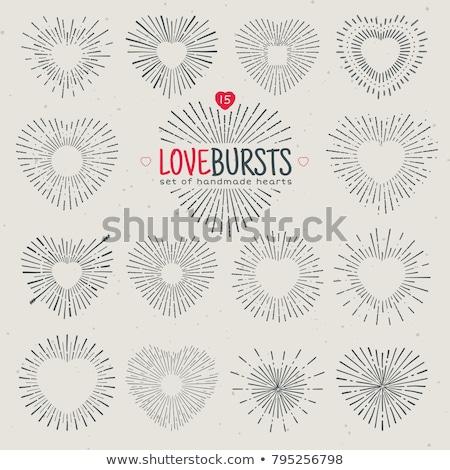 Brilhante coração valentine corações dourado Foto stock © Artida