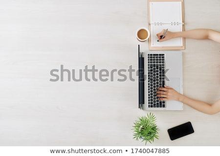Igazgató tervező jegyzet citromsárga toll oktatás Stock fotó © azamshah72