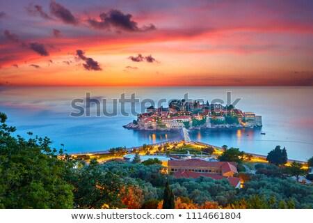 Черногория · зданий · морем · побережье · небе - Сток-фото © adamr