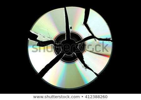 quebrado · cd · disco · compacto · branco · computador · música - foto stock © jamdesign