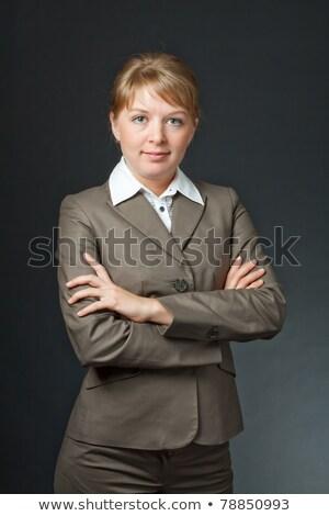 Elarusítónő pózol stílus mosolyog kamera nő Stock fotó © stockyimages