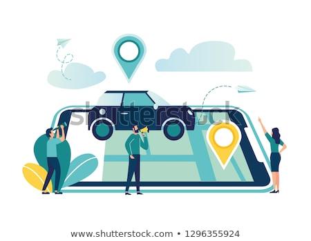 gps · navigatie · 3d · illustration · kaart · straat - stockfoto © lkeskinen