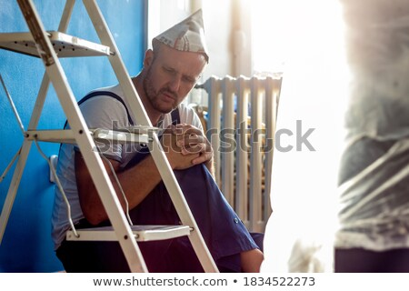 a painter working sitting down stock photo © photography33