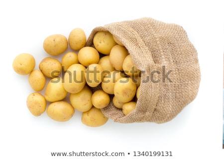 fresh raw potatoes stock photo © konturvid
