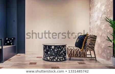 home · details · salon · stoel · stijlvol · lampen - stockfoto © 3523studio