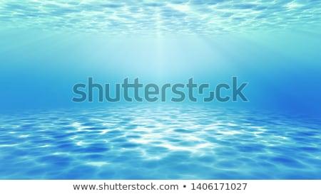 belo · macio · ondas · reflexão · quebrar · praia - foto stock © magann