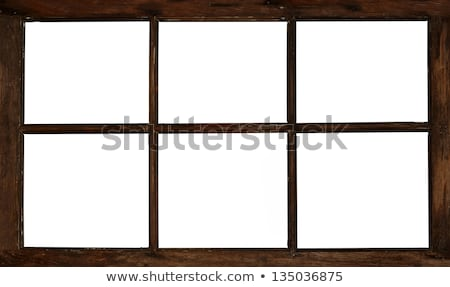 Fa ablakkeret izolált fehér ház otthon Stock fotó © grafvision