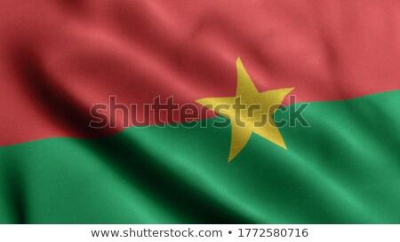 Political waving flag of Burkina Faso Stock photo © perysty