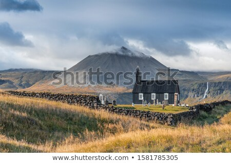 Budir Church, Snaefellsness Peninsula, Western Iceland Stock photo © broker