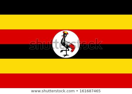 Uganda zászló fényes zászlók Stock fotó © idesign