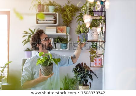 portrait of a man with plants Stock photo © photography33