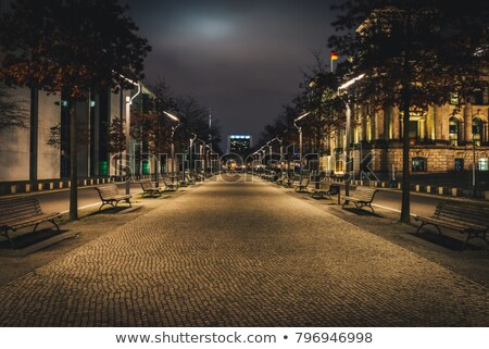 alley in the park at dusk stock photo © taviphoto
