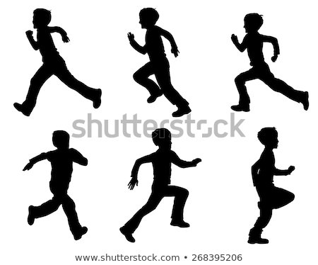 ragazzo · jumping · rosso · trampolino · illustrazione · felice - foto d'archivio © illustrart