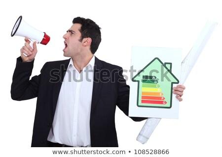 Ingenieur energie-efficiëntie teken business Stockfoto © photography33