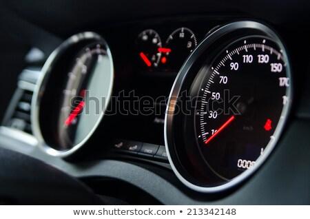 műszerfal · sportautó · sebességmérő · üzemanyag · hőmérséklet · kaliber - stock fotó © nneirda