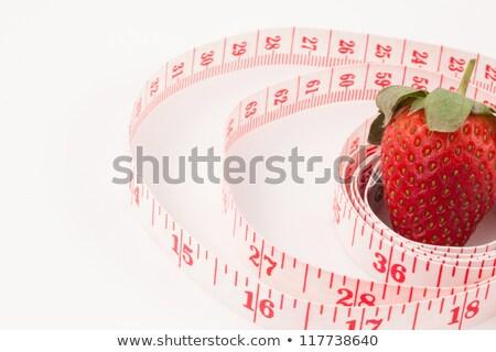 イチゴ 定規 白 測定 ぼかし イチゴ ストックフォト © wavebreak_media
