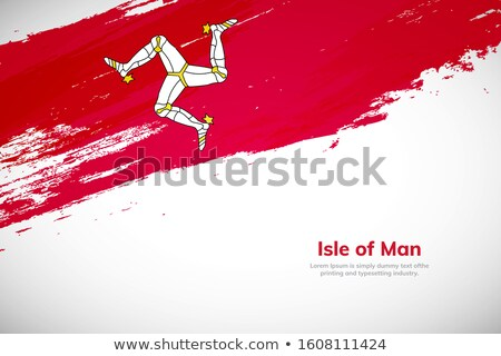 Flag of isle of man Stock photo © MikhailMishchenko