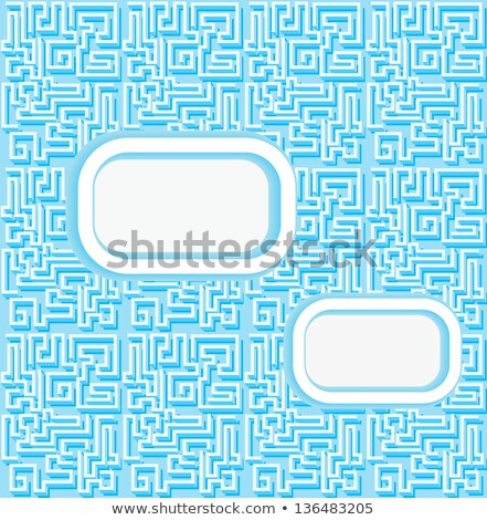 background with a labyrinth and a place for posting Stock photo © yurkina