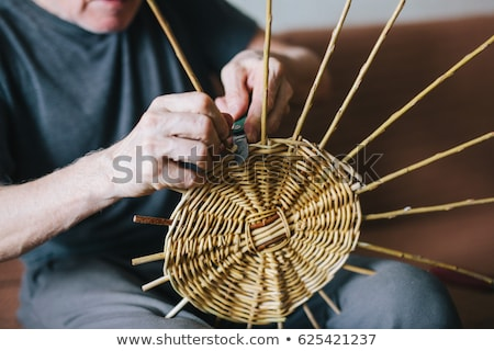 making traditional easter wicker basket  Stock photo © jonnysek
