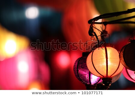 Traditional vietnamese souvenir - lantern. Stock photo © kyolshin