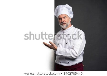 Mutlu olgun şef üniforma portre Stok fotoğraf © wavebreak_media