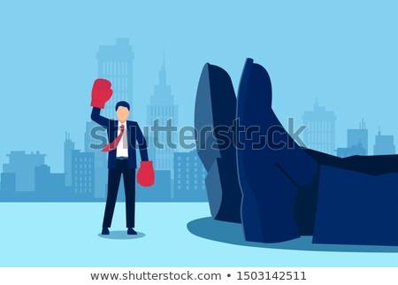 Slaan markt woorden Blackboard business geld Stockfoto © Ansonstock