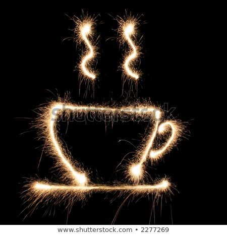cup cofee sparkler Stock photo © Paha_L