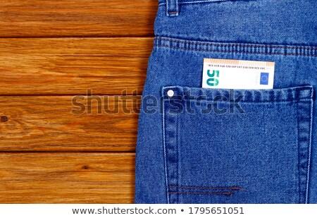Euros in pocket Stock photo © stevanovicigor