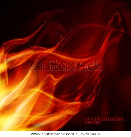 Foto stock: Vermelho · chamas · quente · fogo · fundo · laranja