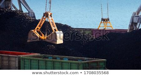 Crane and pile of coal on docks Stock photo © speedfighter