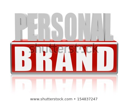 personal brand in blue white banner - letters and block Stock photo © marinini