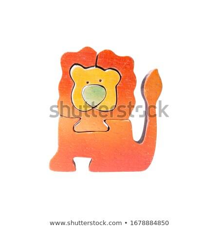 Wooden Lion Stock photo © cosma