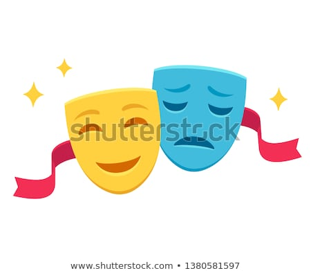 Gelukkig triest tegenover borden twee blauwe hemel Stockfoto © stevanovicigor