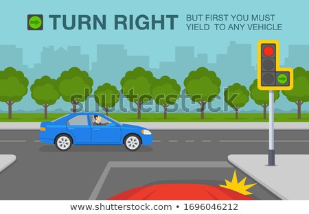 traffic sign green arrow and permission to turn stock photo © ustofre9