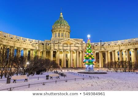 Catedral Navidad árbol de navidad noche árbol luz Foto stock © Mikko
