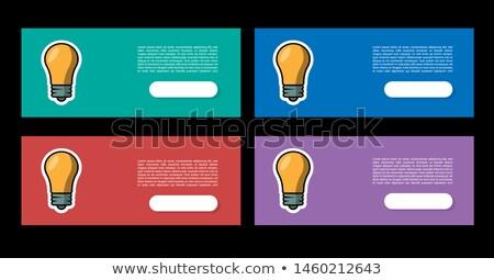 Conseils ampoule symbole quatre couleurs icônes web Photo stock © marinini