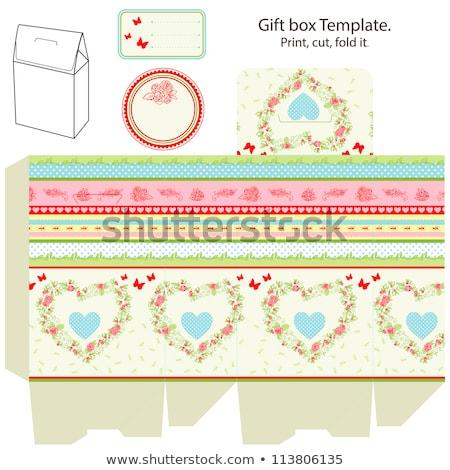 Empty printable product box Stock photo © shawlinmohd
