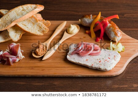 bread,salami and pate Stock photo © M-studio