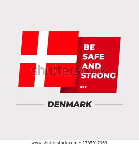 Vlag Denemarken idee achtergrond kleur Stockfoto © kiddaikiddee