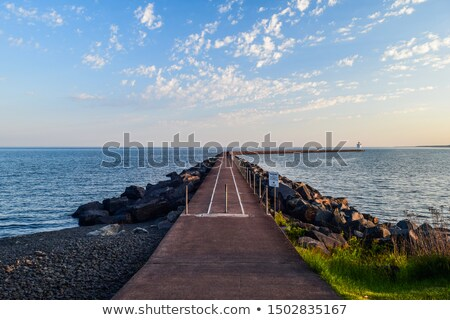 2 ナビゲーション サイド 入り口 港 夕暮れ ストックフォト © photohome